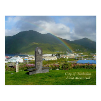 Aleut Denkmal in Unalaska Stadt Postkarte