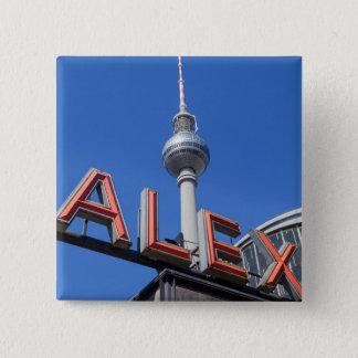 Alex Berlin Quadratischer Button 5,1 Cm