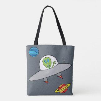 Alex das alien - ganz vorbei - drucken Sie Tasche