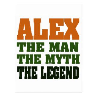 Alex - der Mann, der Mythos, die Legende! Postkarte