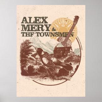Alex Mery u. das Stadtbewohner-Vogel-Plakat Poster