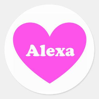 Alexa Runder Aufkleber