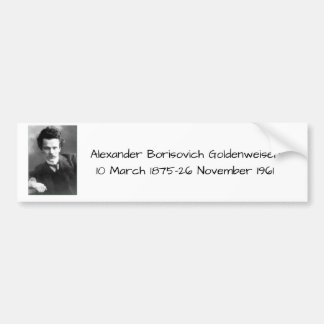Alexander Borisovich Goldenweiser Autoaufkleber