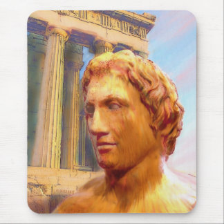 Alexander der Große, der Mausunterlage malt Mousepad