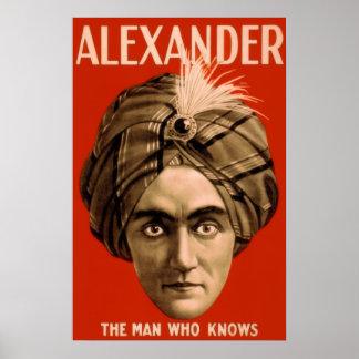 """Alexander """"der Mann, der"""" weiß (das Plakat) Poster"""