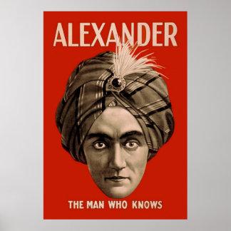 Alexander der Mann, der weiß Posterdruck