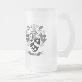 Alexander-Familienwappen-Wappen Mattglas Bierglas