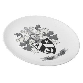 Alexander-Familienwappen-Wappen Melaminteller