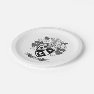 Alexander-Familienwappen-Wappen Pappteller