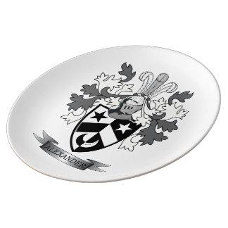 Alexander-Familienwappen-Wappen Porzellanteller