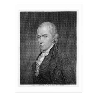 Alexander Hamilton (1757-1804) graviert von John Postkarte