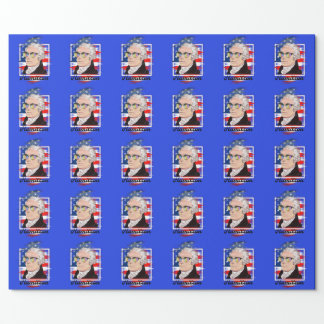 Alexander Hamilton in Farbtragenden Schatten Geschenkpapier