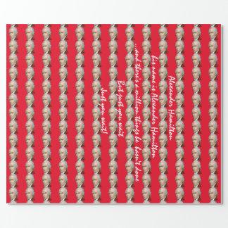 Alexander Hamilton-Rot-Packpapier Geschenkpapier