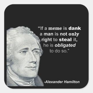 Alexander Hamiltons feuchtes Meme - Aufkleber
