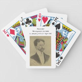 Alexander Nikolayevich Scriabin Bicycle Spielkarten