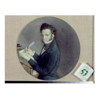 Alexander Pushkin bei Arbeit, 1899 Postkarte