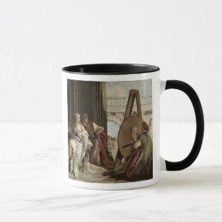 Alexander und Campaspe am Haus des Malers Tasse