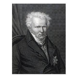 Alexander von Humboldt, graviert von C. Cook Postkarte