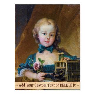 Alexandrine-Jeanne Le Normant d'Étiolles Boucher Postkarte