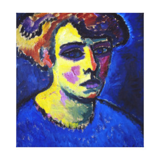 Alexej von Jawlensky Frauenkopf (Kopf einer Frau) Leinwanddruck