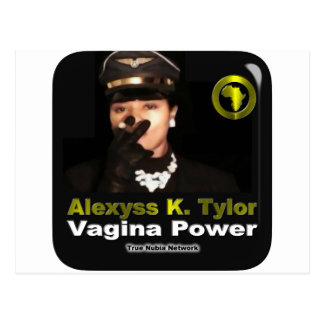 Alexyss K. Tylor Vagina Power™ auf wahrem Nubia Postkarte