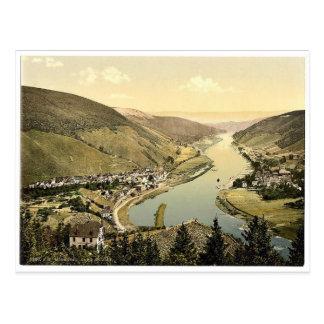 Alf und Bullay, Mosel, Tal von, Deutschland Postkarte