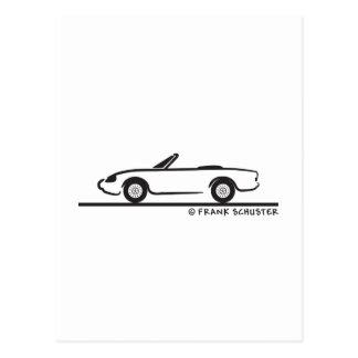 Alfa Romeo Spider Duetto Postkarte