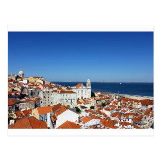 Alfama, Lissabon, Portugal, Postkarte
