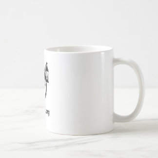 Alfanous schwarzes Logo Kaffeetasse