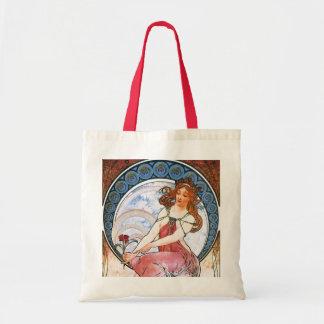 Alfons Mucha: Muse der Malerei Budget Stoffbeutel