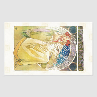 Alfons Mucha Princezna 1911 Hyacinta Rechteckiger Aufkleber