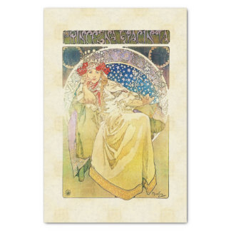 Alfons Mucha Princezna 1911 Hyacinta Seidenpapier
