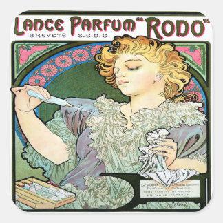 Alfons Muchalanze 1896 Parfum Rodo Quadratischer Aufkleber