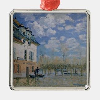 Alfred Sisley   das Boot in der Flut, Silbernes Ornament