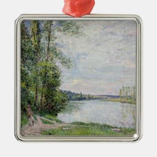Alfred Sisley | die Flussufer-Straße von Veneux Silbernes Ornament