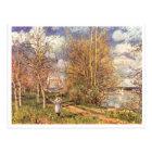 Alfred Sisley Die kleinen Wiesen im Frühling 1880 Postkarte