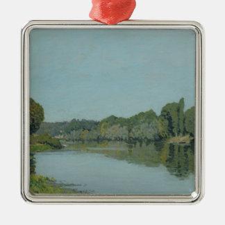 Alfred Sisley   die Seine bei Bougival Silbernes Ornament