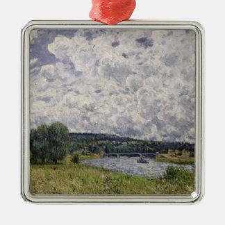 Alfred Sisley   die Seine bei Suresnes Silbernes Ornament