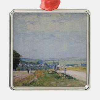 Alfred Sisley | die Straße zu Montbuisson Silbernes Ornament