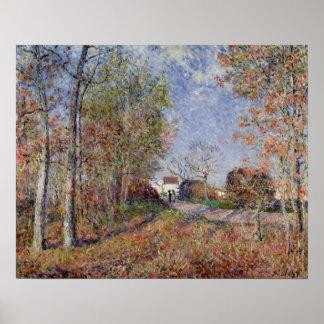 Alfred Sisley | eine Ecke des Holzes bei Sablons Poster