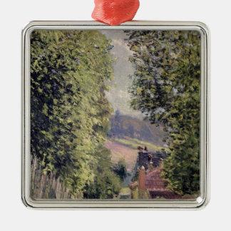 Alfred Sisley | eine Straße in Louveciennes Silbernes Ornament
