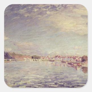 Alfred Sisley | Heiliges-Mammes Quadratischer Aufkleber