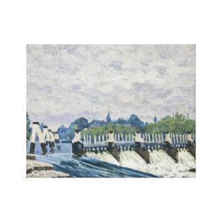 Alfred Sisley - Molesey Wehr, Hampton Court Galerie Falt Leinwand