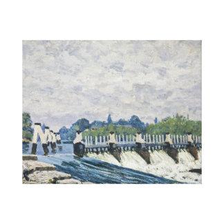 Alfred Sisley - Molesey Wehr, Hampton Court Galerie Faltleinwand