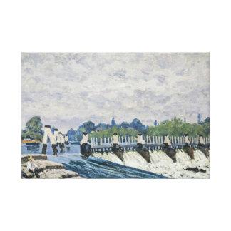 Alfred Sisley - Molesey Wehr, Hampton Court Leinwand Drucke