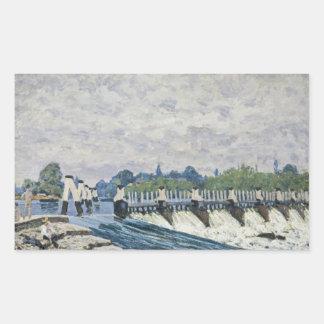 Alfred Sisley - Molesey Wehr, Hampton Court Rechteckiger Aufkleber
