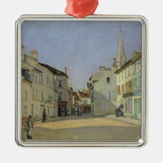 Alfred Sisley | Rue de la Chaussee in Argenteuil Silbernes Ornament