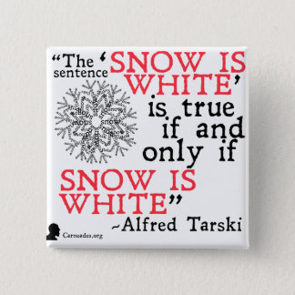 Alfred Tarski-Wahrheits-Knopf Quadratischer Button 5,1 Cm
