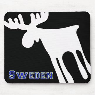 Älg / Moose, vit, Sweden Mousepad