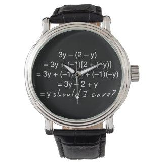 Algebra warum sollte i-Sorgfalt-Spaß Armbanduhr